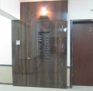safety door wooden